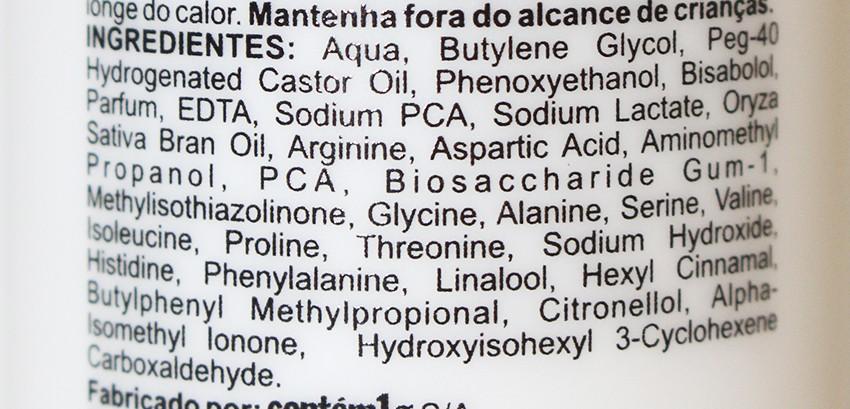 Ingredientes do Tônico Preparativo da Contém 1g